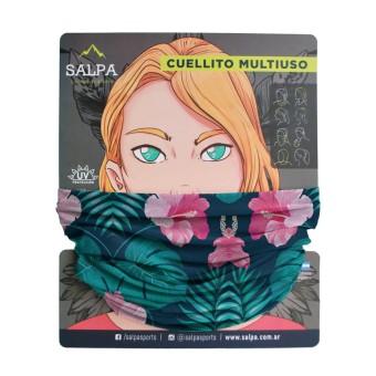 Cuello Flor Rosa