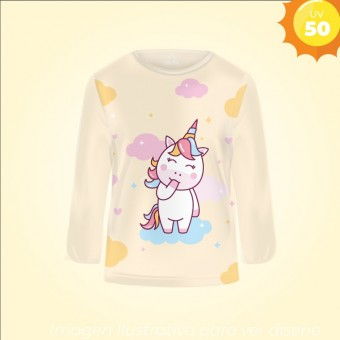 Remera Proteccion UV infantil UNICORNIO