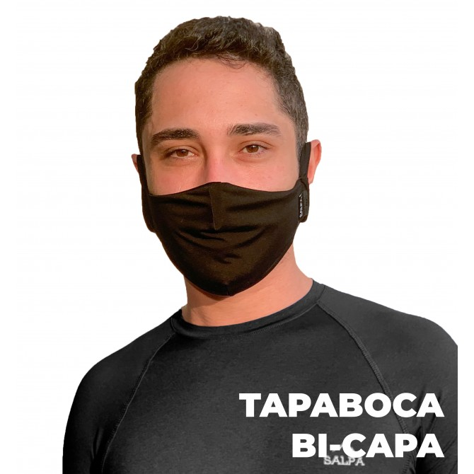 Tapaboca Bi-Capa Negro