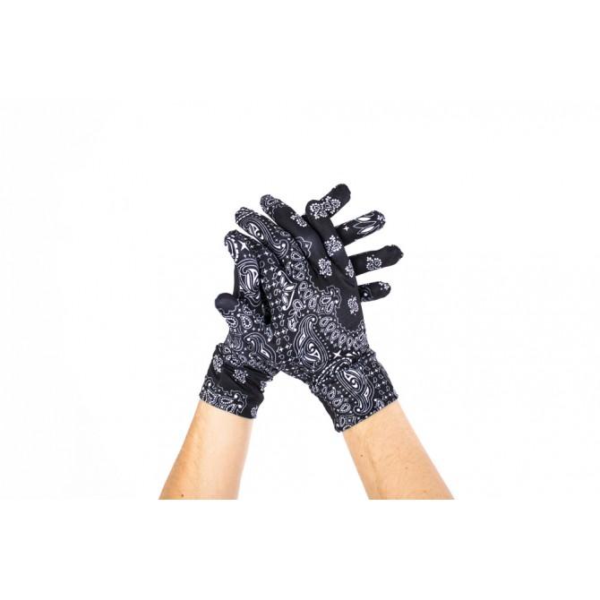 Guantes con puño Pañuelo negro Unisex