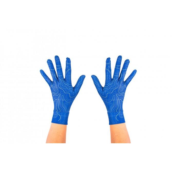 Guantes con puño Topografico azul Unisex
